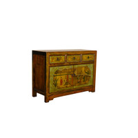 Antique Chinese Sideboard Hand Painted - Chinese Garden