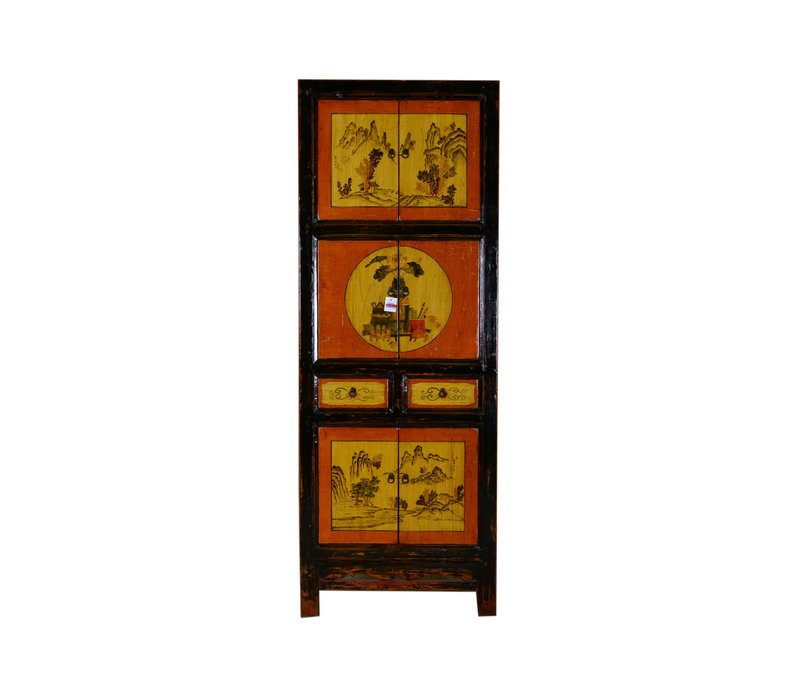 [PREORDER WEEK48] Antique Chinese Small Cabinet Hand Painted Landscape