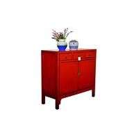 Antiek Chinees Dressoir Handbeschilderd Rood