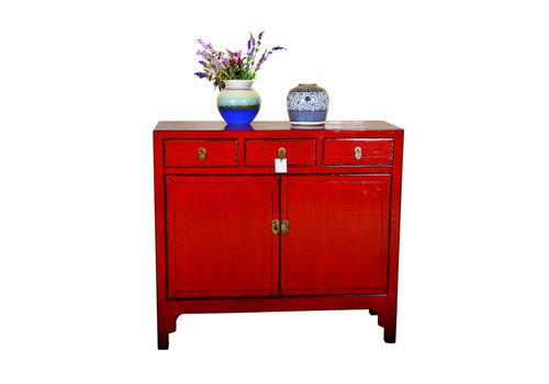 Fine Asianliving Antiek Chinees Dressoir Handbeschilderd Rood