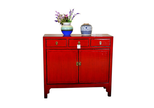 Fine Asianliving [PREORDER WEEK48] Antique Chinese Sideboard Hand Painted Red
