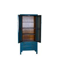Moderne Chinese Boekenkast Teal Blauw