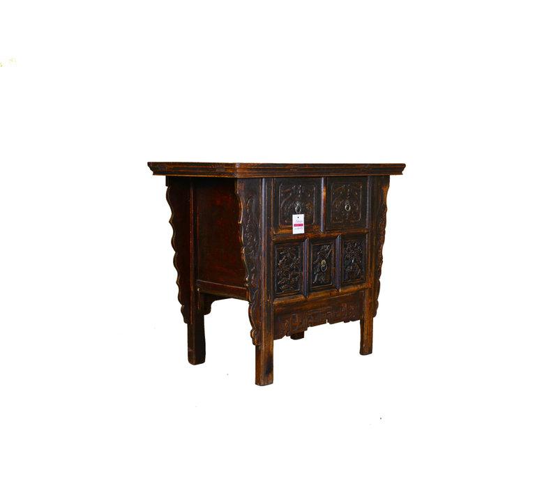 Armoire Chinoise Antique Fabriquée à la Main en Marron