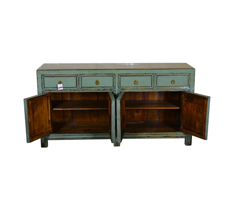 Antique Chinese Sideboard Hand Painted Mint - Yunnan
