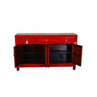 Antique Chinese Sideboard Hand Painted Lucky Red