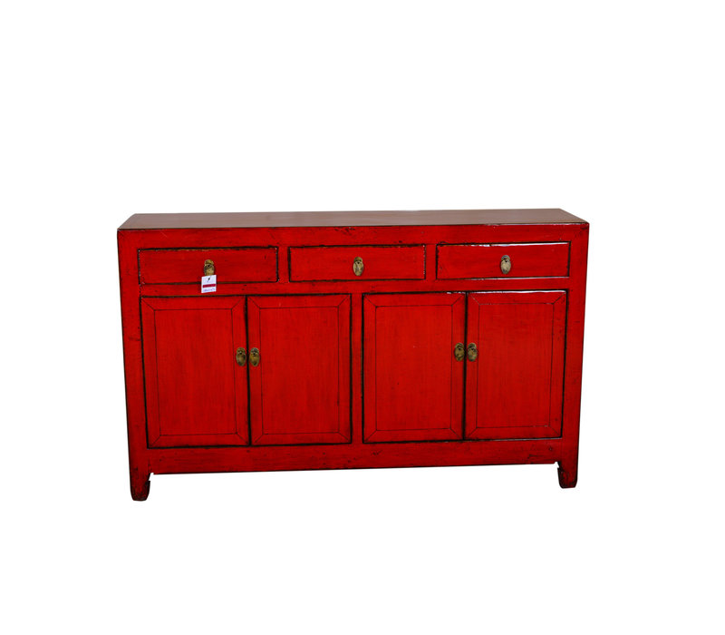[PREORDER WEEK48] Antique Chinese Sideboard Hand Painted Red