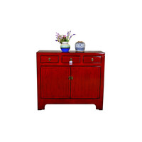 [PREORDER WEEK48] Antique Chinese Sideboard Hand Painted Red - Yunnan