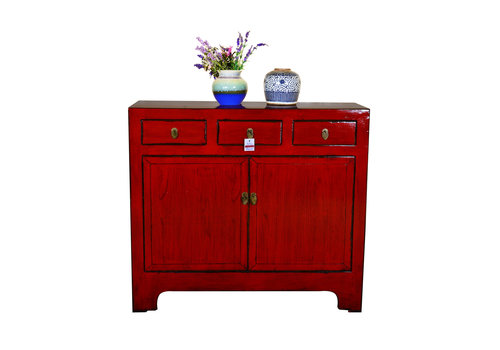 Fine Asianliving Antique Chinese Sideboard Hand Painted Red - Yunnan