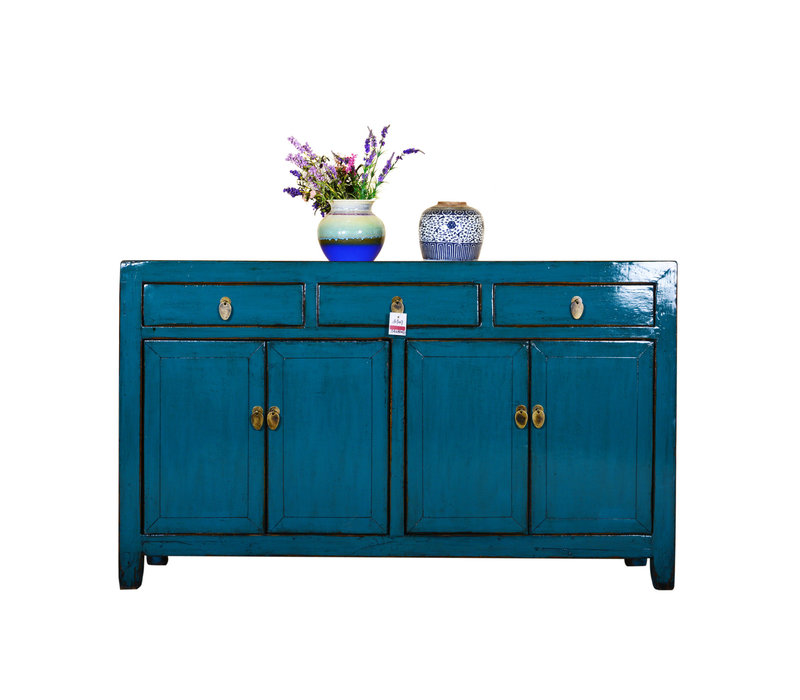 [PREORDER WEEK48] Antique Chinese Sideboard Hand Painted Blue
