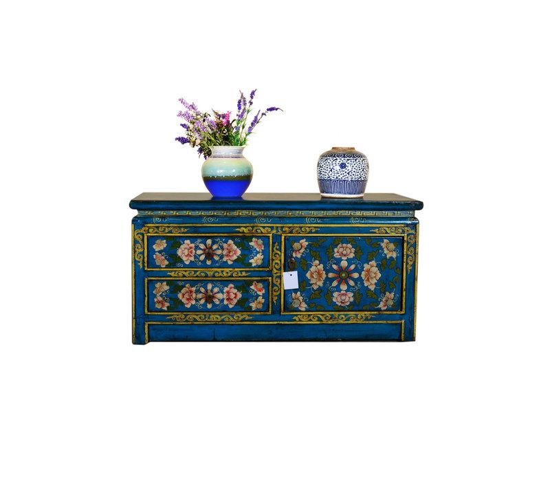[PREORDER WEEK48] Antique Tibetan Designed Low Sideboard Hand Painted