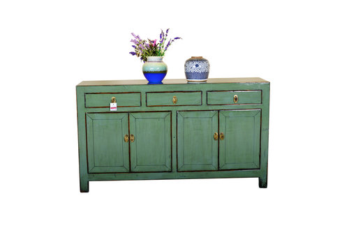 Fine Asianliving [PREORDER WEEK48] Antique Chinese Sideboard Hand Painted Mint - Yunnan