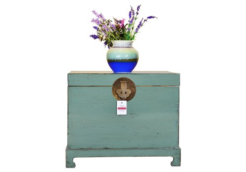 Fine Asianliving [PREORDER WEEK48] Designed Chinese Storage Chest Hand Painted Mint