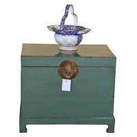 [PREORDER WEEK48] Antique Traditional Chinese Storage Chest Mint - Shanxi