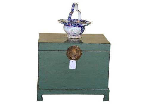 Fine Asianliving Caja Cofre de Almacenamiento Chino Antiguo Tradicional Menta - Shanxi Chino Anch.62 x Prof.45 x Alt.51 cm