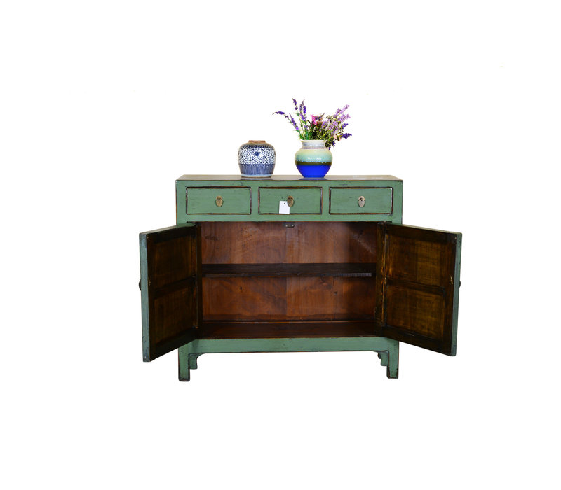 [PREORDER WEEK 48] Antique Chinese Sideboard Hand Painted Mint - Shanghai