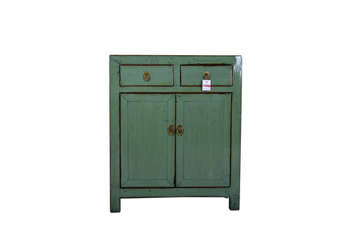 Fine Asianliving [PREORDER WEEK 48] Antique Chinese Small Sideboard Hand Painted Mint - Xi'an