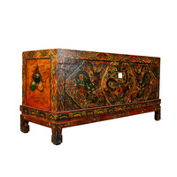 Unique Antique Traditional Tibetan Storage Chest Handmade - Dragon Large