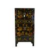 Fine Asianliving Grand Cabinet Chinois Antique Peint à la Main - Fleurs & Vases