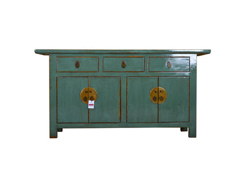 Fine Asianliving Antique Asian Sideboard Hand Painted Mint - Yangshuo