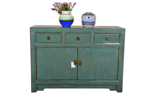Fine Asianliving [PREORDER WEEK 48] Antique Designed Chinese Sideboard Hand Painted Mint - Dali