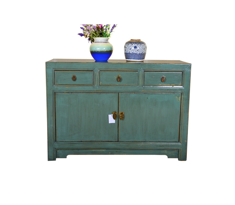 Antique Chinese Sideboard Hand Painted Mint - Dali