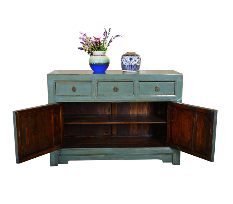 [PREORDER WEEK 48] Antique Designed Chinese Sideboard Hand Painted Mint - Dali