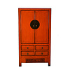 Fine Asianliving Antique Classical Designed Chinese Cabinet Hand Painted Red - Yunnan