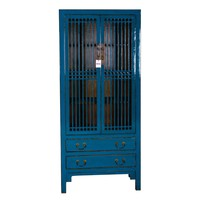 Contemporary Designed Chinese Bookcase Blue
