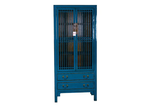 Fine Asianliving Contemporary Designed Chinese Bookcase Blue