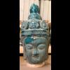Fine Asianliving Boeddha Hoofd Aardewerk Blauw