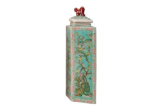 Fine Asianliving Chinese Pot Handbeschilderd Porselein Diamond 24x13x52cm