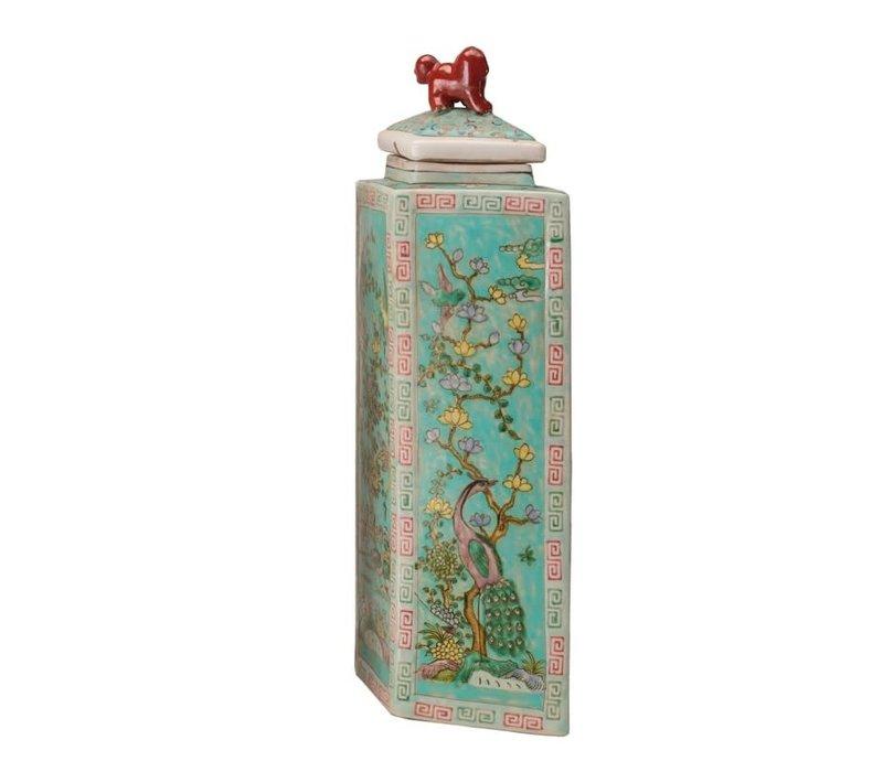Chinese Pot Handbeschilderd Porselein Diamond 24x13x52cm
