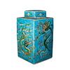 Fine Asianliving Chinesischer Ingwertopf Porzellan Handbemalt Drachen Blau B18xT18xH34cm