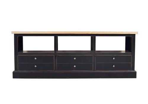 Fine Asianliving Chinese TV-meubel Zwart Lades Modern