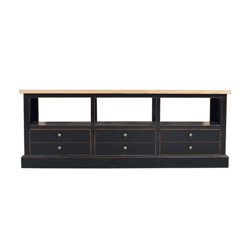 Fine Asianliving Chinese TV Cabinet Cupboard Black Drawers Modern