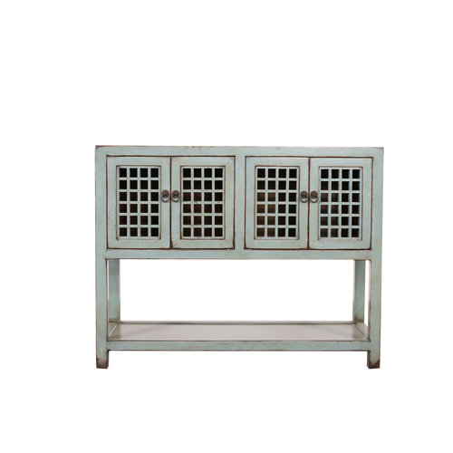 Table d'appoint chinoise Asianliving fine aspect gris antique