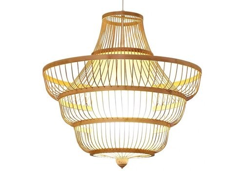 Fine Asianliving Ceiling Light Pendant Lighting Bamboo Lampshade Handmade - Jayla