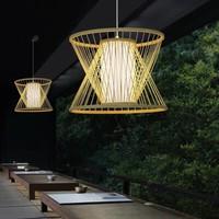 Bamboo Light Pendant Lampshade Handmade - Naomi