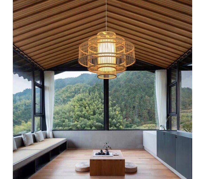 Pendelleuchte Hängelampe Bambus Handgefertigt - Lena - D50cm