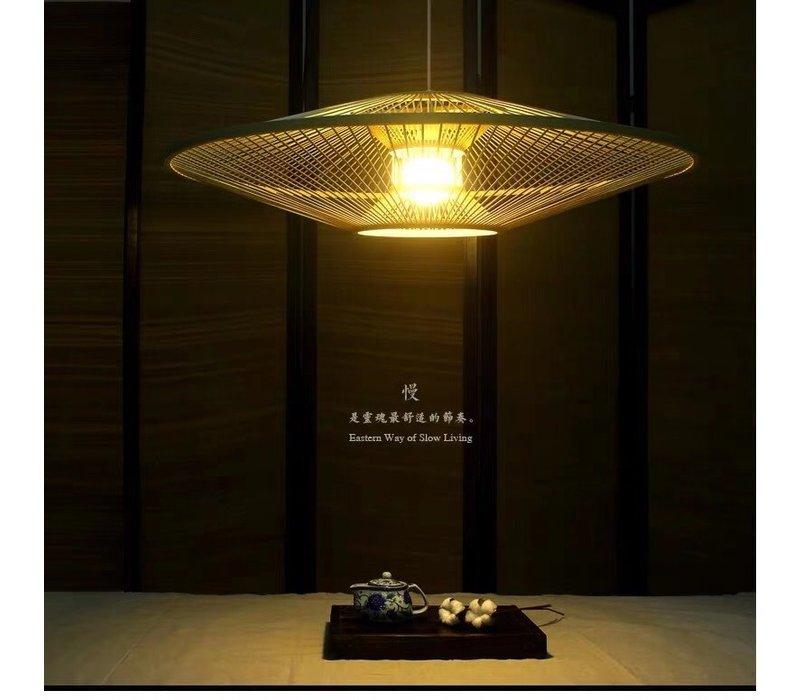 Lampada a Sospensione in Bambù Fatta a Mano - Scarlet D60cm