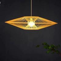 Fine Asianliving Ceiling Light Bamboo Lampshade Handmade - Scarlet D60cm