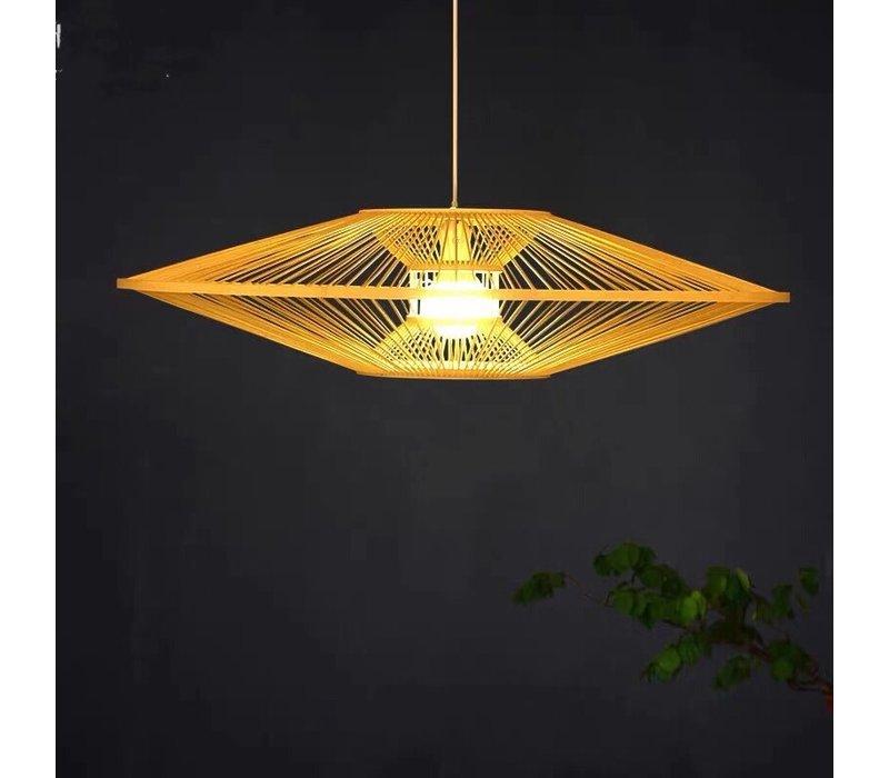 Fine Asianliving Bamboe Hanglamp Handgemaakt -  Scarlet D60cm
