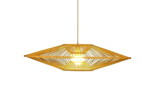 Fine Asianliving Bamboo Light Pendant Lampshade Handmade - Scarlet D60cm