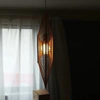 Deckenleuchte Bambus Lampe Handgefertigt - Grace D90cm