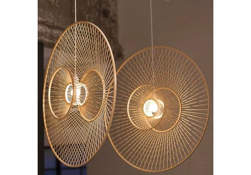 Fine Asianliving Deckenleuchte Bambus Lampe Handgefertigt - Grace D90cm