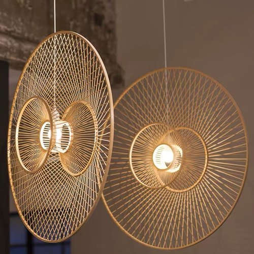 Ceiling Light Bamboo Lampshade Handmade - Grace D90cm