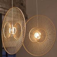 Fine Asianliving Deckenleuchte Bambus Lampe Handgefertigt - Gracious D60cm