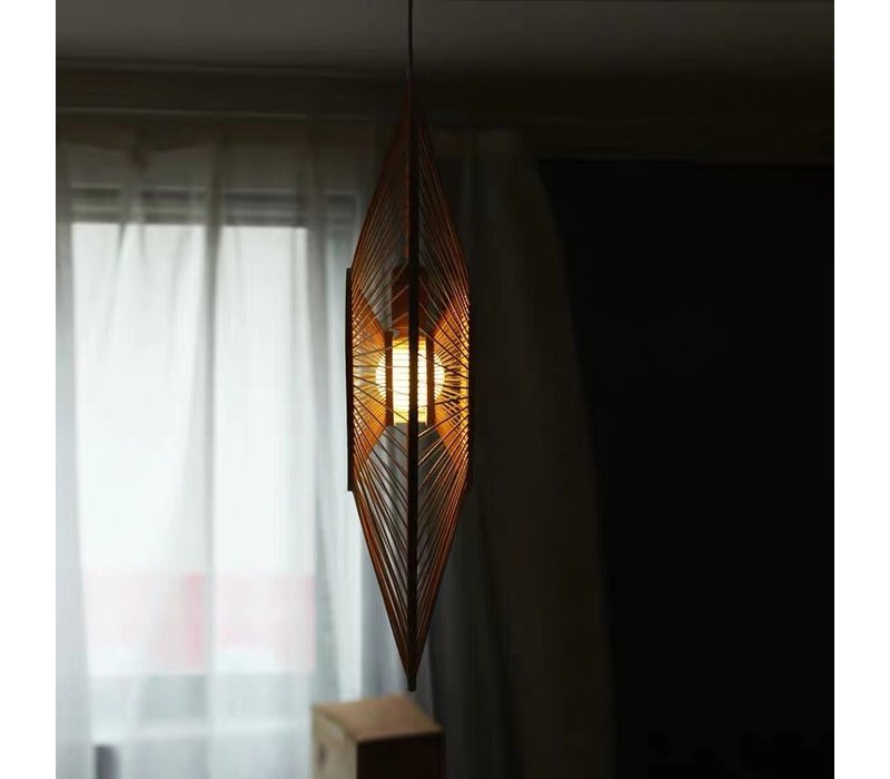 Fine Asianliving Ceiling Light Bamboo Lampshade Handmade - Gracious D60cm