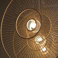 Abat-jour Plafonnier Bambou Fait Main - Gracieux D60cm