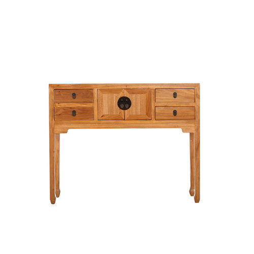 Fine Asianliving Chinese Sidetable Natural Solid Elm